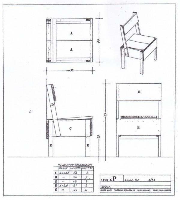 Autoprogettazione<br/>archivio n° 1123 xP<br/>progetto (1974)