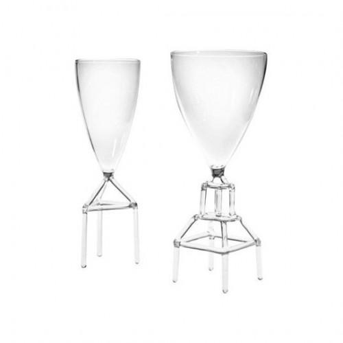 """""""Unruly Glasses""""<br/>bicchieri in vetro borosilicato<br/>autoproduzione (2008)"""