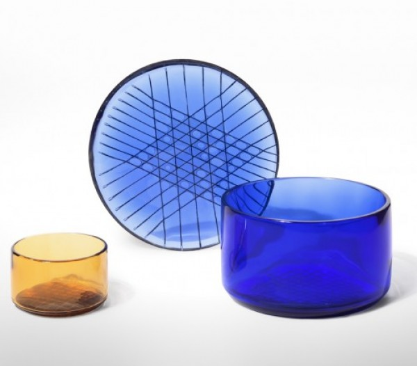 &#8220;Tartan Glasses&#8221; Collection<br/>Vasi in vetro di Murano<br/>prototipi di ricerca.