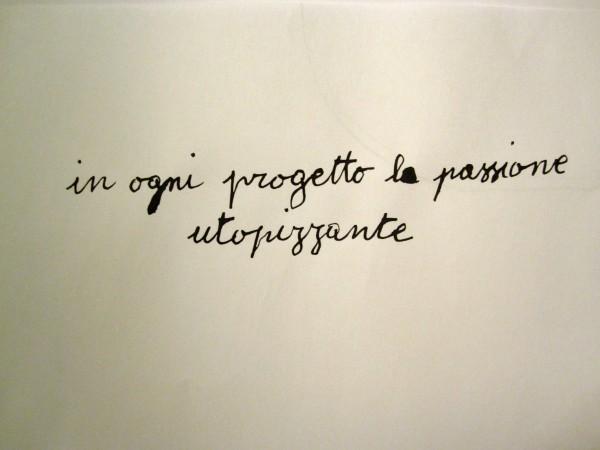 """""""L'UTOPIA""""<br/>scritto autografo su carta<br/>due esemplari unici (2012)"""
