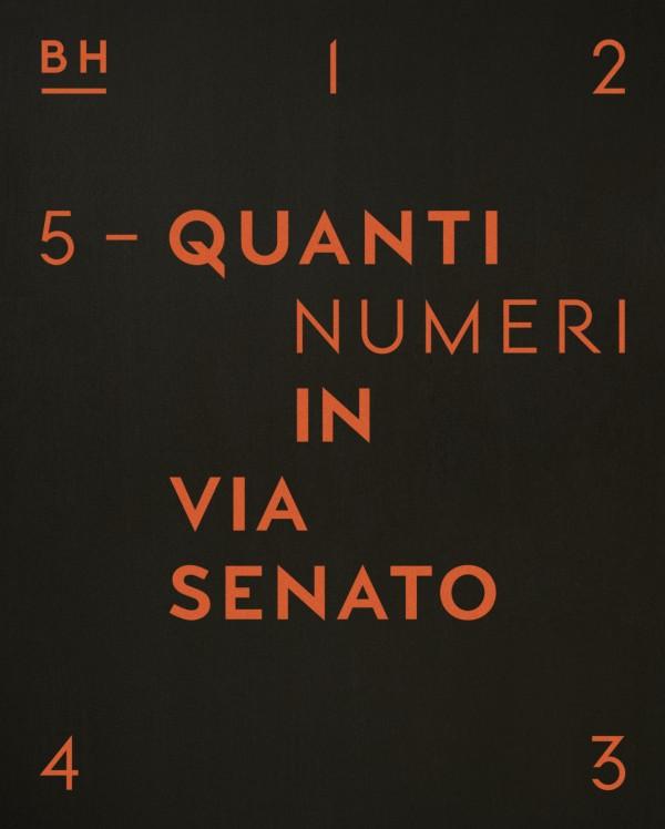 &#8220;Quanti Numeri in Via Senato&#8221;<br/>serigrafia su tavola<br/>prototipo BASILE ARTECO (2014)