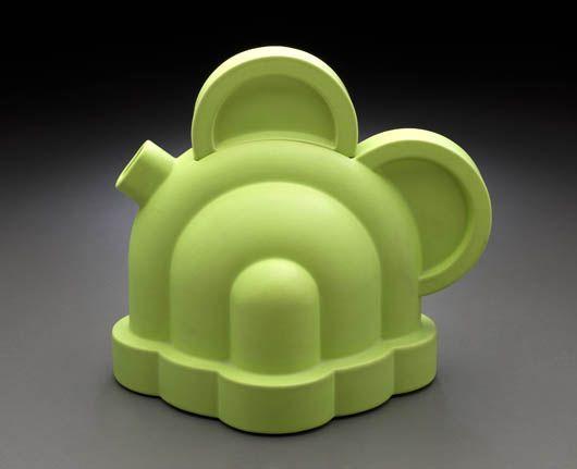 """""""Basilico""""<br/>teiera in ceramica<br/>Edizione Alessio Sarri (1987)"""
